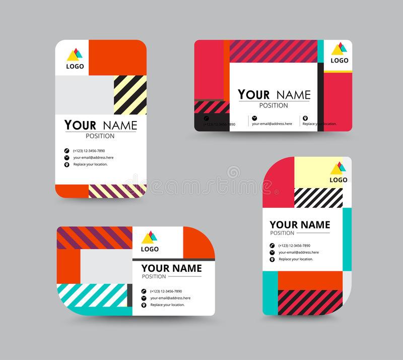 Modern business card and name card design stock vector download modern business card and name card design stock vector illustration of folio colourmoves