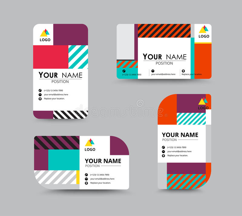 Modern Business Card And Name Card Design. Stock Vector ...