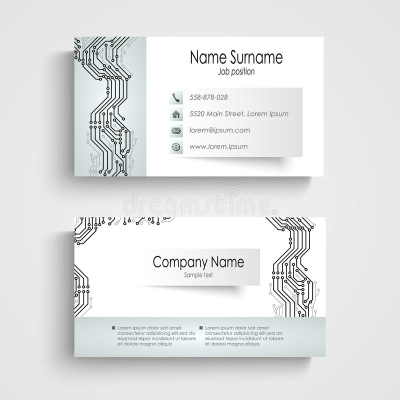 Modern Business Card With Printed Circuit Board Stock Vector ...