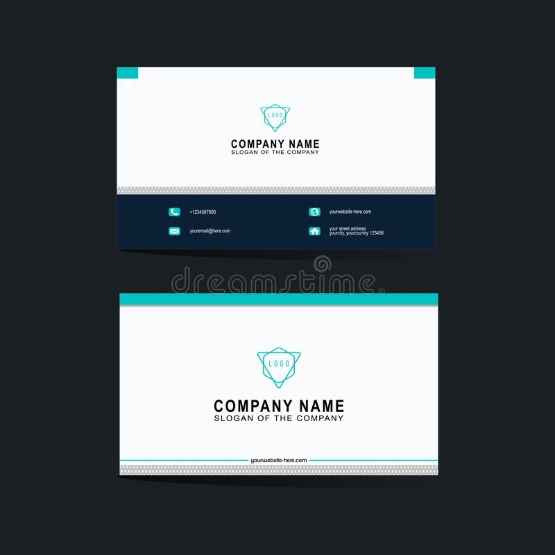Modern business card template, background, Vector, illustration, abstract design for company and individual use. This is modern business card template royalty free illustration