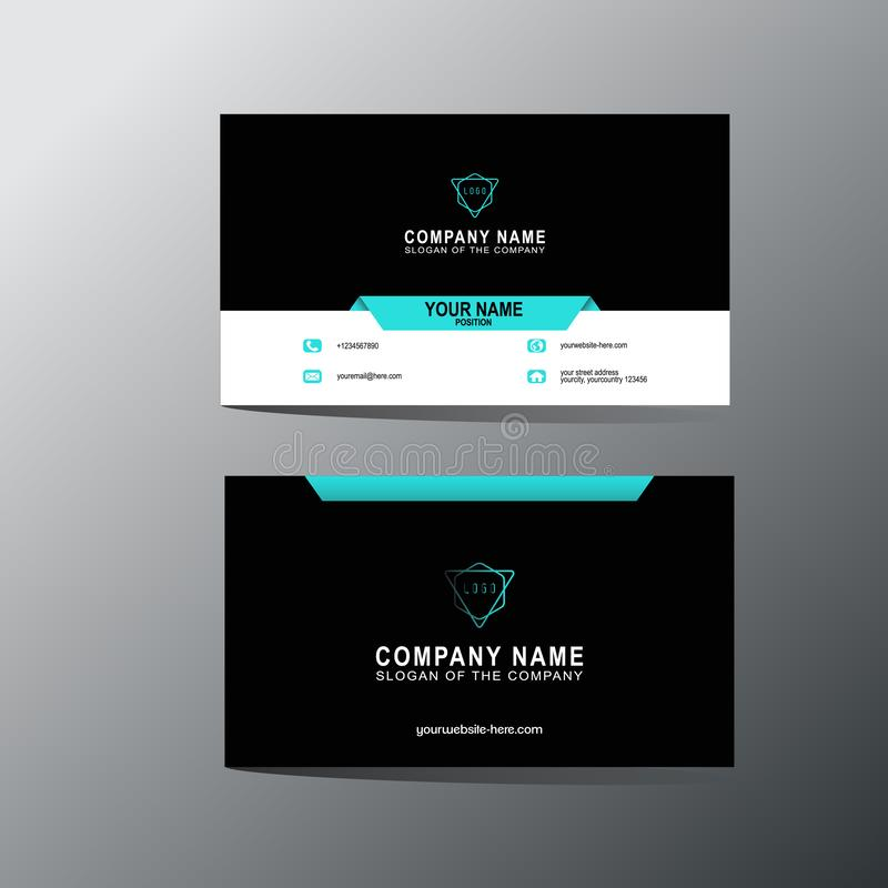 Modern business card template, background, Vector, illustration, abstract design for company and individual use. This is modern business card template stock illustration
