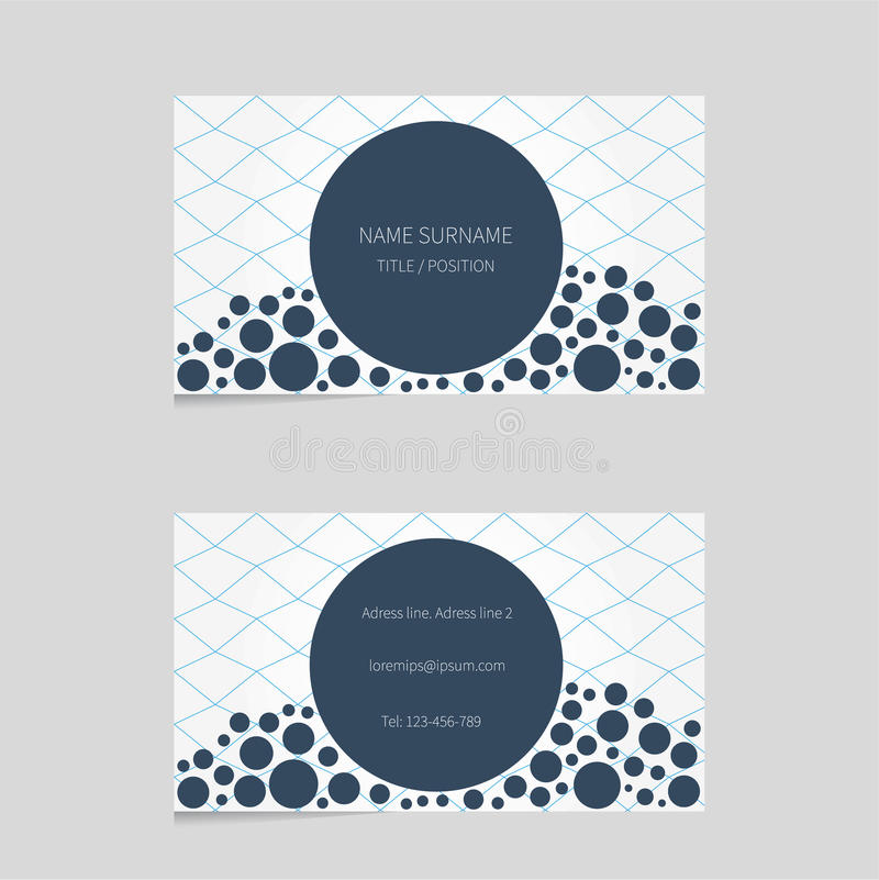 Modern Business Card Template With Bubbles Stock Vector - Image ...