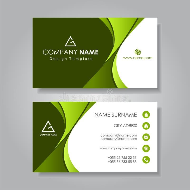 Modern Business Card Template Flat Design Vector Illustration Stock Vector Illustration Of Communication Icon 156055029