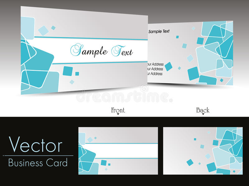Modern Business Card Vector Royalty Free Stock Photo