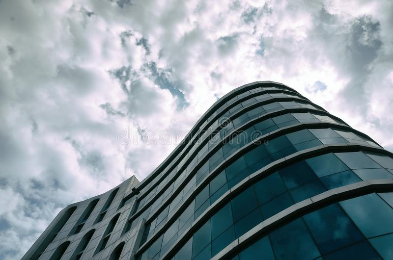 Modern business center in the heart of Odessa royalty free stock photos