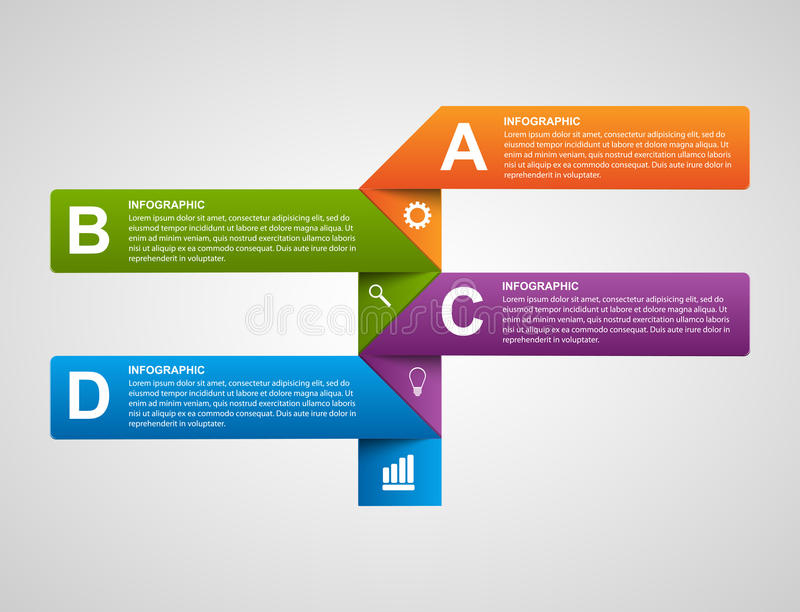 Modern business charts and graphs options banner for infographics or presentations. Vector illustration stock illustration