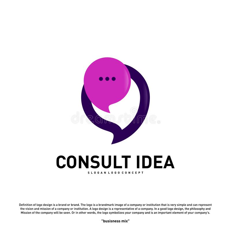 Modern Business Consulting Agency logo design template. Elegant Simple Consult logo concept stock illustration