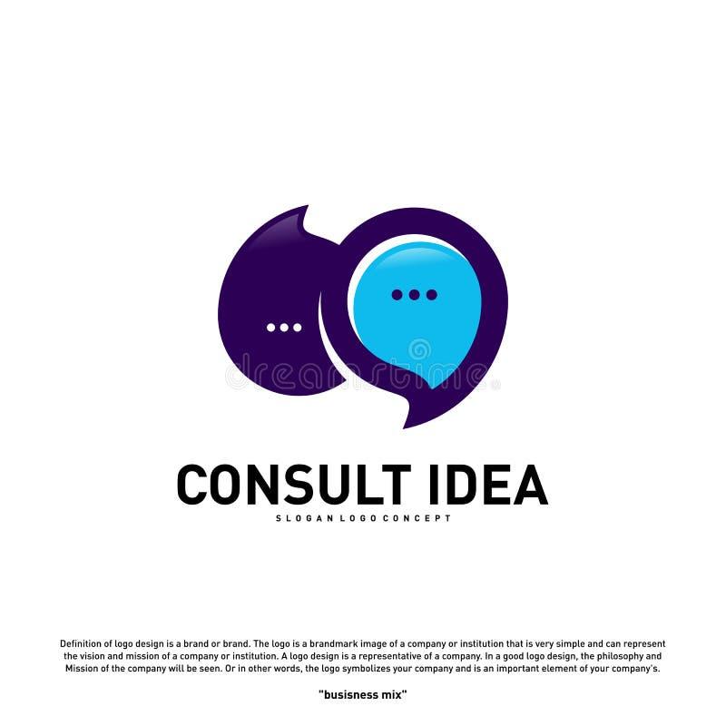 Modern Business Consulting Agency logo design template. Elegant Simple Consult logo concept.  vector illustration