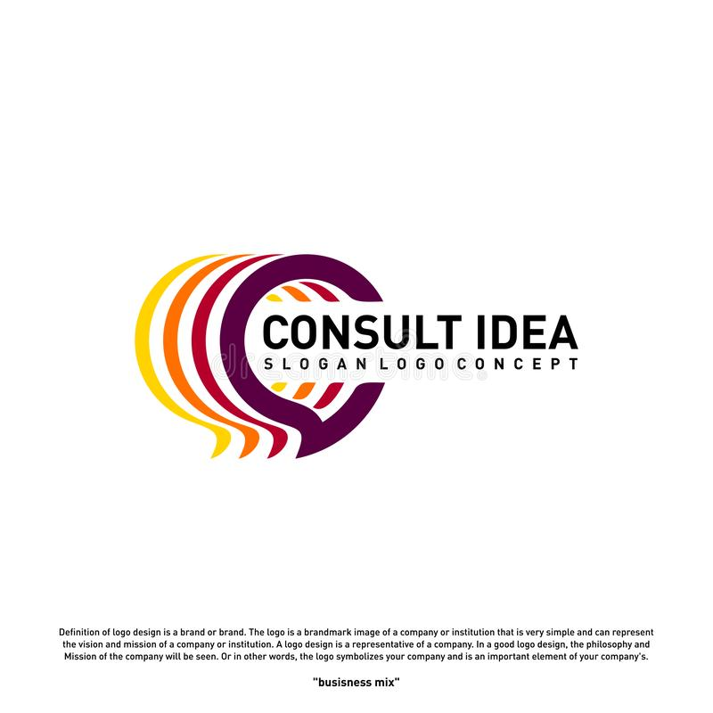 Modern Business Consulting Agency logo design template. Elegant Simple Consult logo concept.  stock illustration
