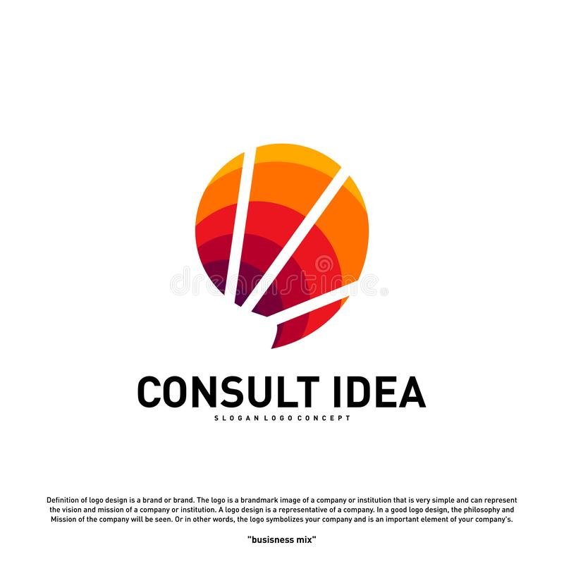Modern Business Consulting Agency logo design template. Elegant Simple Consult logo concept.  royalty free illustration