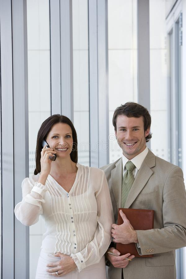 Modern business couple stock photography