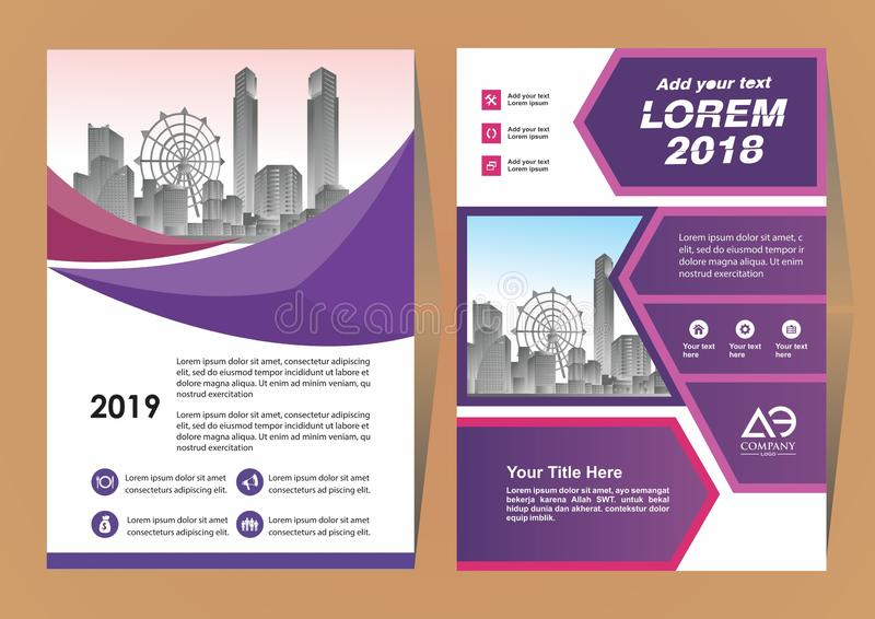 A modern business cover brochure layout with shape vector illustration royalty free illustration