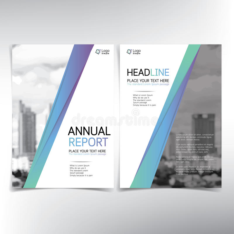 Modern business cover page, vector template, condominium and real estate concept. Can be used for annual report, flyer, brochure, leaflet and more vector illustration