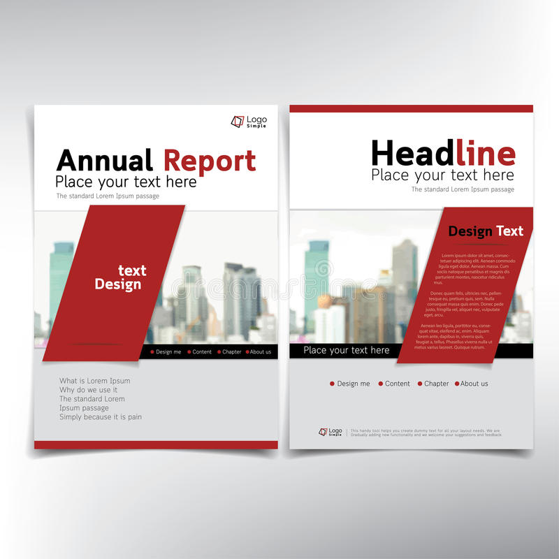 Modern business cover page, vector template, condominium and real estate concept. Can be used for annual report, flyer, brochure, leaflet and more stock illustration