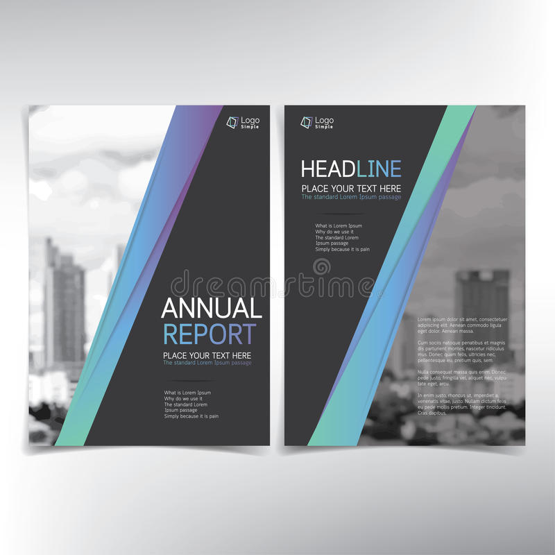 Modern business cover page, vector template, condominium and real estate concept. Can be used for annual report, flyer, brochure, leaflet and more royalty free illustration