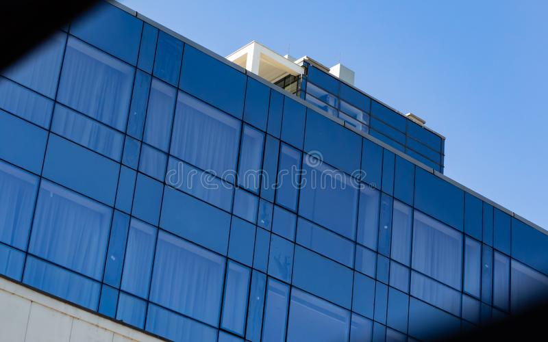 Modern business glass building. Modern urban business glass building royalty free stock photo