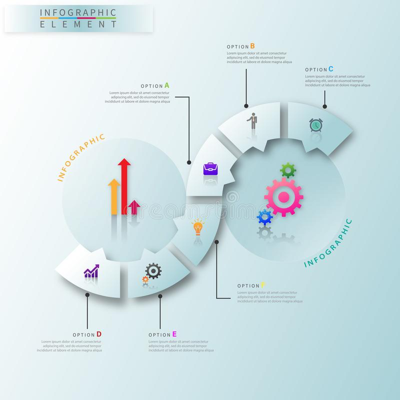 Modern business infographic elements with 3D icon stock illustration