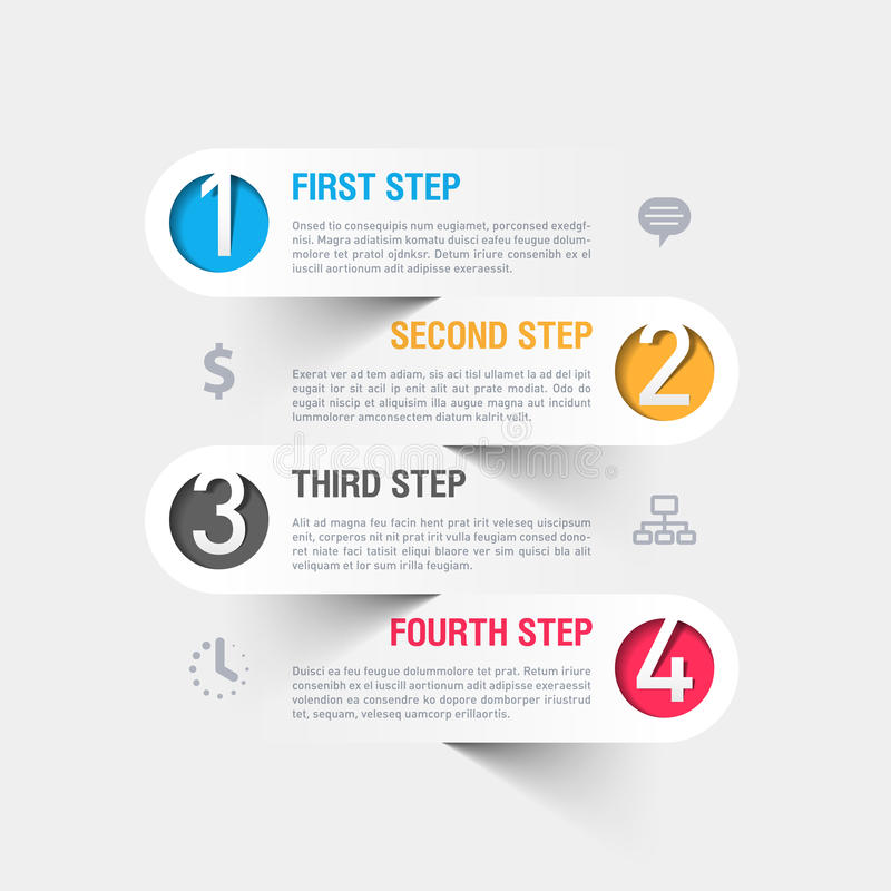 Modern business infographics template royalty free illustration