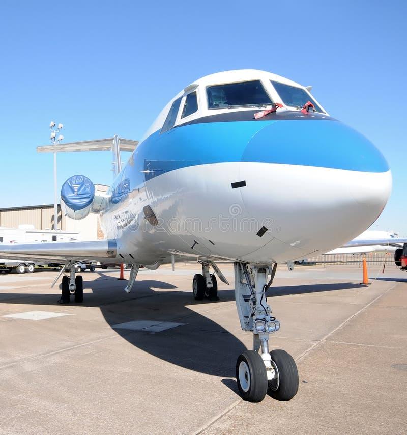 Modern business jet royalty free stock photos
