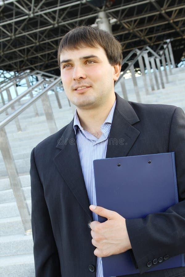 Modern business man stock image