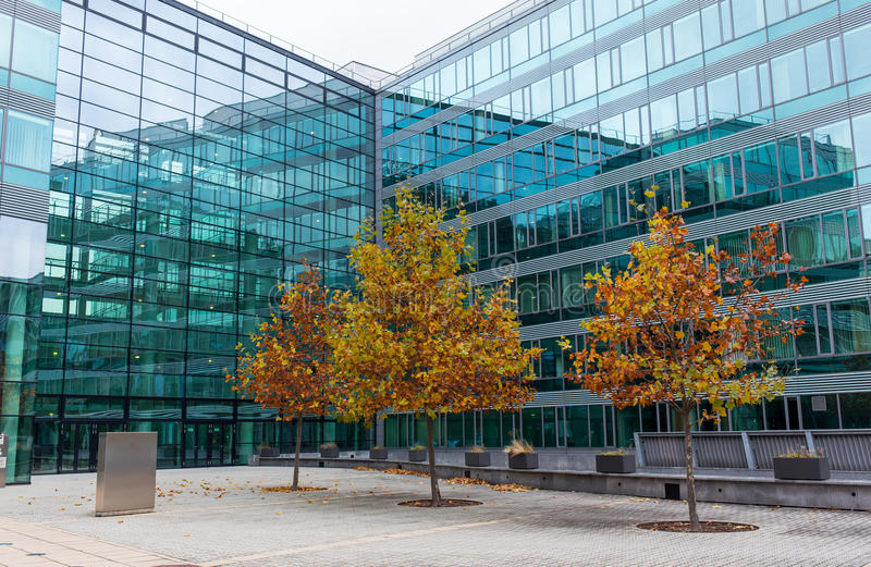 Modern business office building exterior royalty free stock photos
