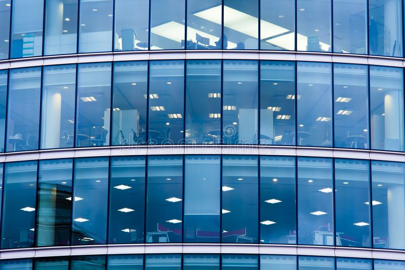 Modern business office building with glass royalty free stock photos