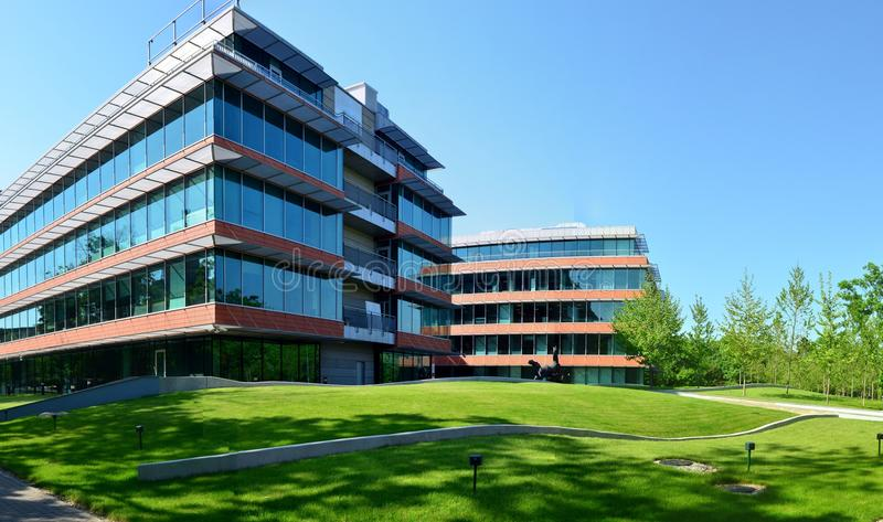 Modern business park and office buildings royalty free stock photos