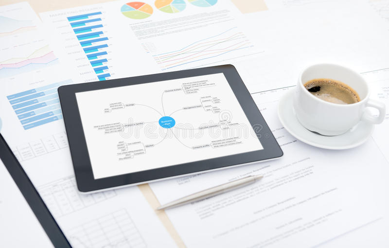 Modern business planning royalty free stock images