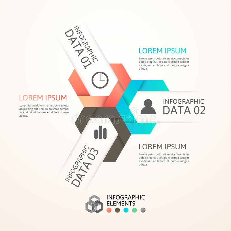 Modern business step origami style options banner vector illustration