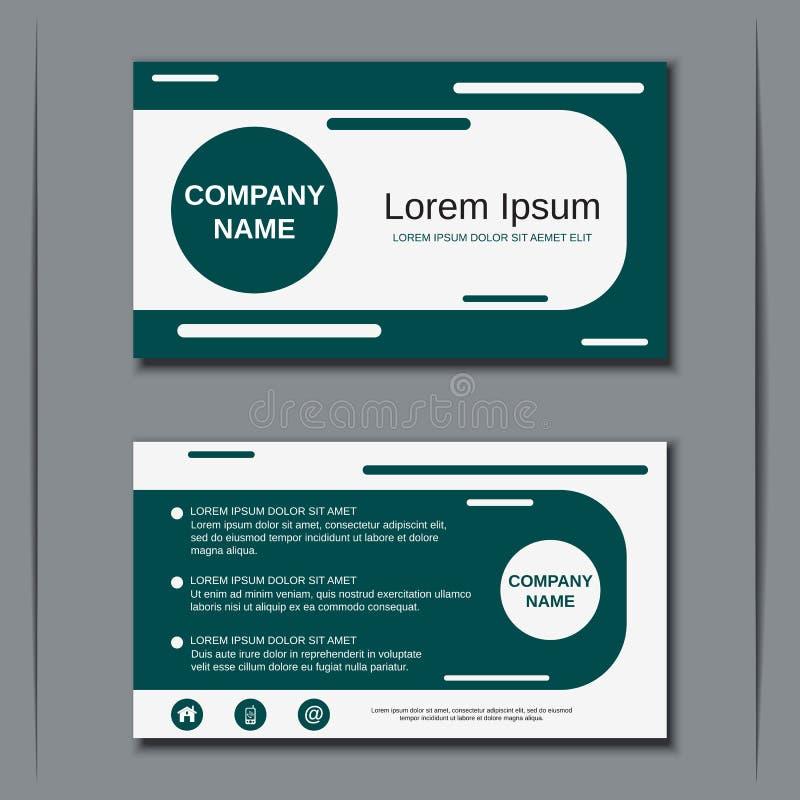 Modern Business Visiting Card Design Stock Vector - Illustration of ...