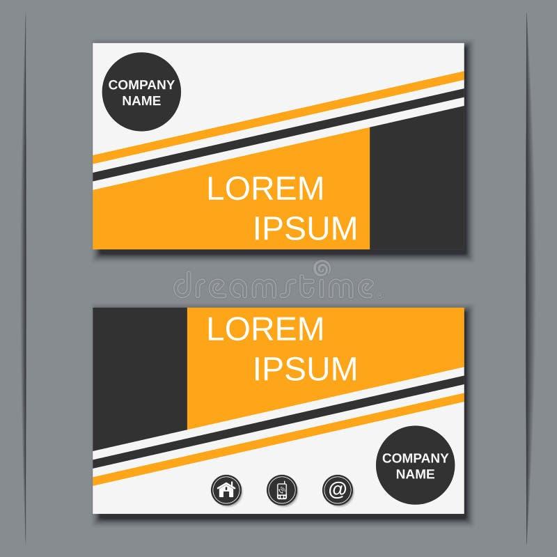 Modern Business Visiting Card Design Stock Vector - Image: 72623966