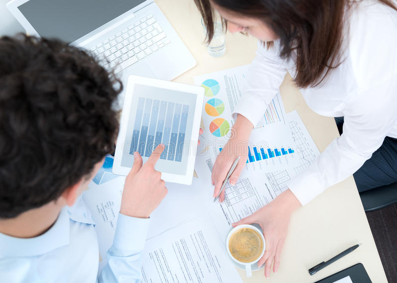 Modern business workflow stock images