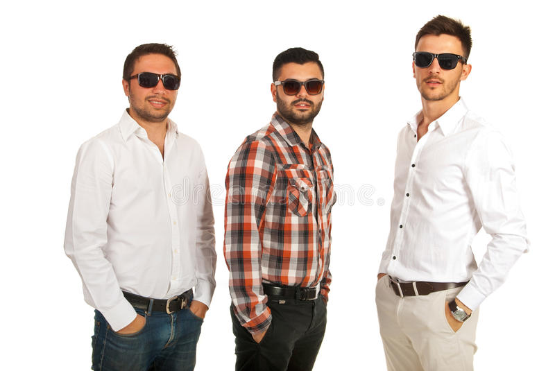 Modern businessmen with sunglasses royalty free stock image