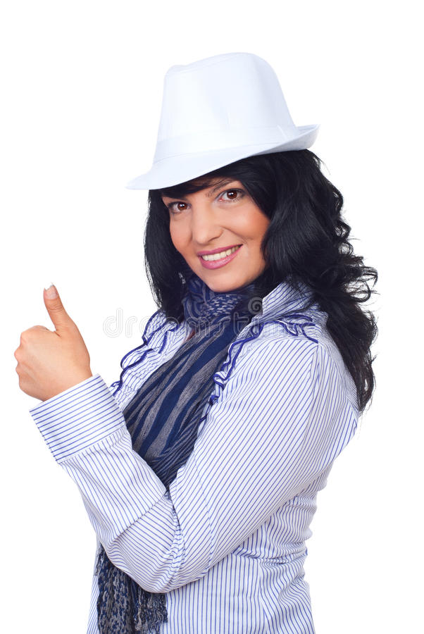 Download Modern Businesswoman Giving Thumbs Stock Photo - Image: 16143182