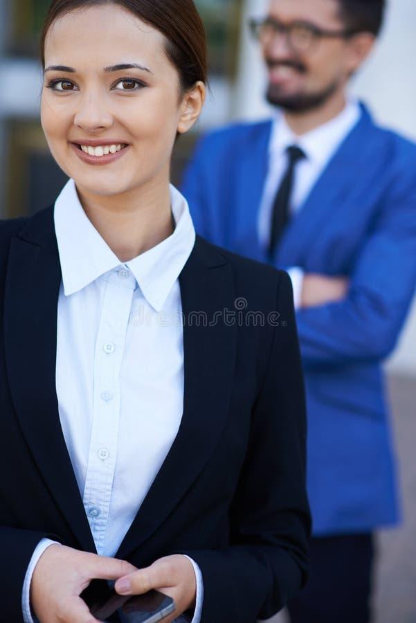 Modern businesswoman stock photo