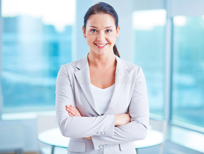 Modern businesswoman royalty free stock photo