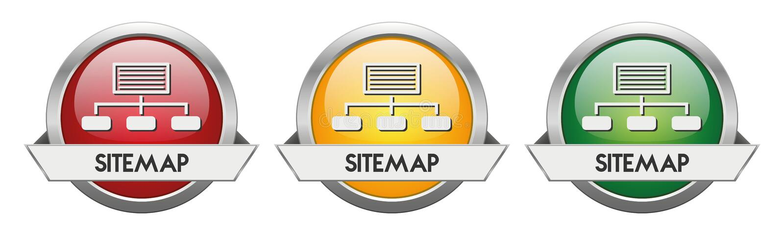 Modern Button Vector Sitemap. For the creative use in graphic design royalty free illustration