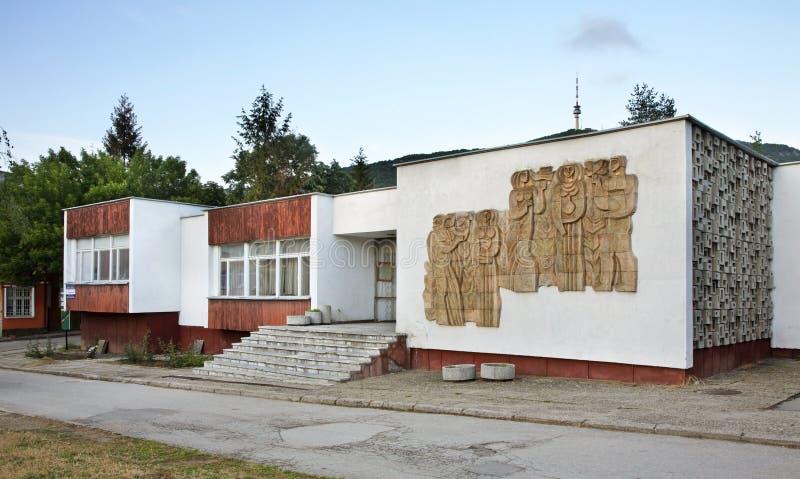 Modern byggnad i Belogradchik lökformig royaltyfri foto