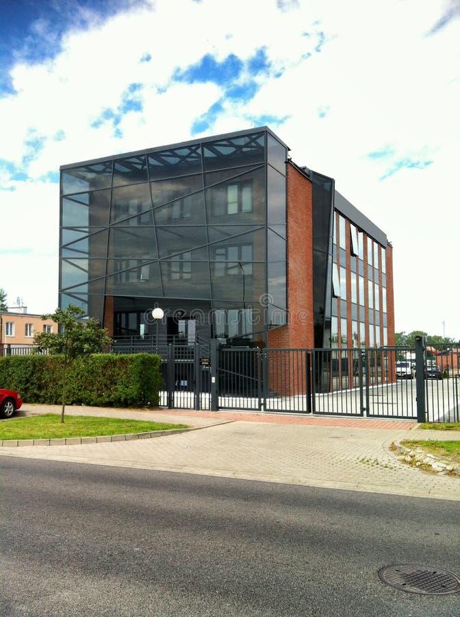 Modern byggnad med den glass höjden royaltyfria foton