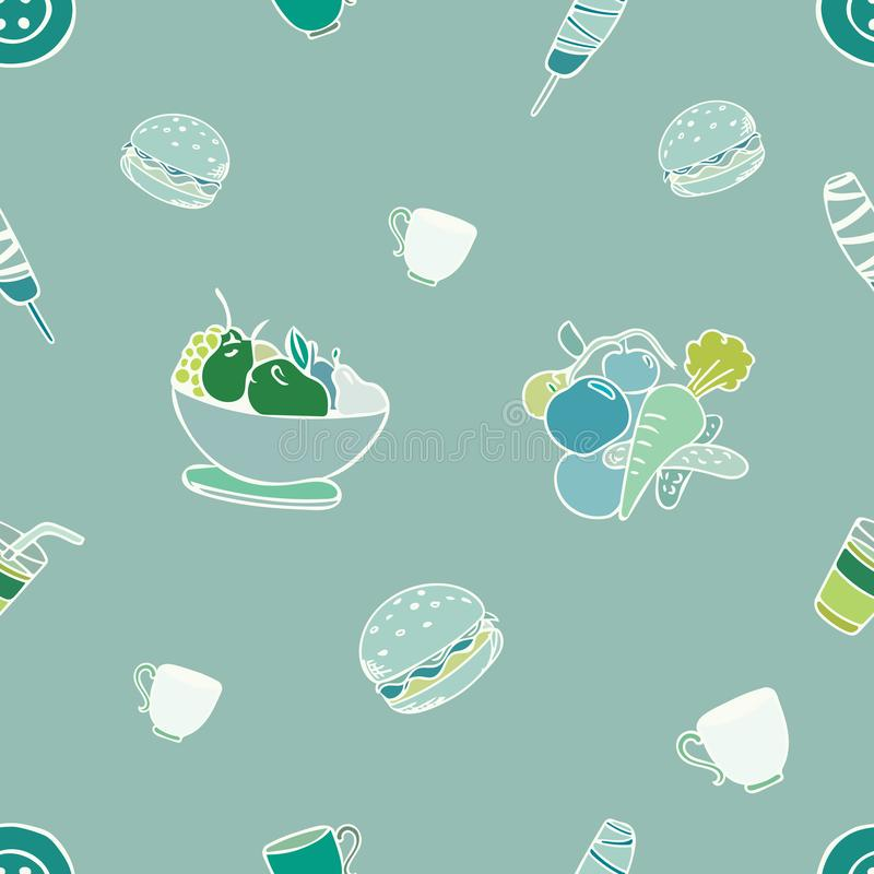 Food pattern design stock photography