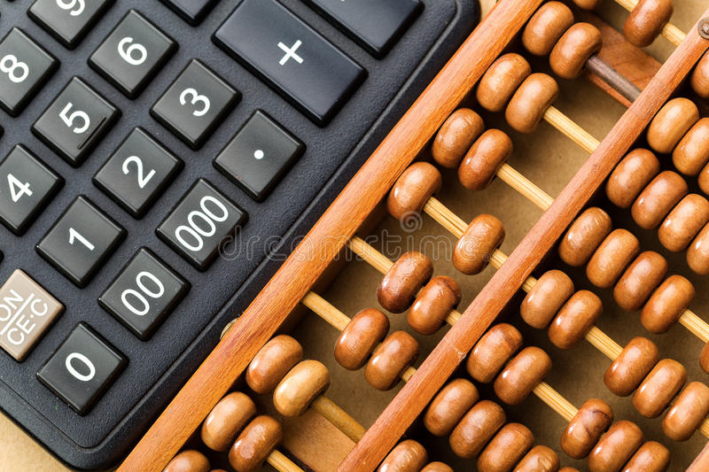 Download Modern Calculator And Abacus Stock Image - Image of business, background: 41480805