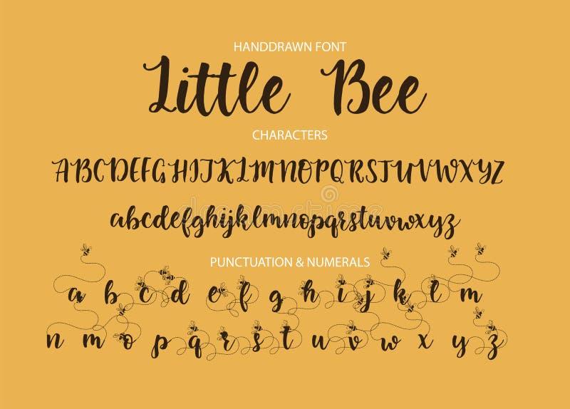 Modern calligraphic stilsort Borste målade bokstäver royaltyfri illustrationer