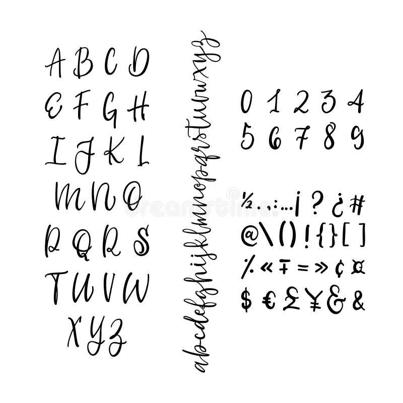 Vintage Calligraphic Script Font Vector Letters Stock Vector