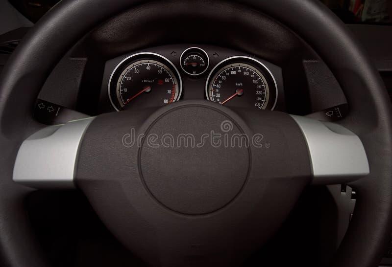 Modern car dashboard stock photo