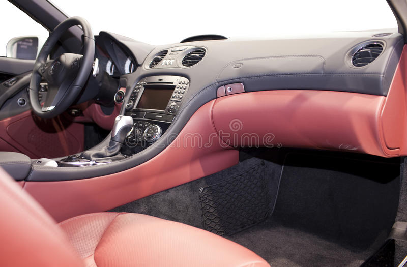 Modern Car Dashboard Stock Images