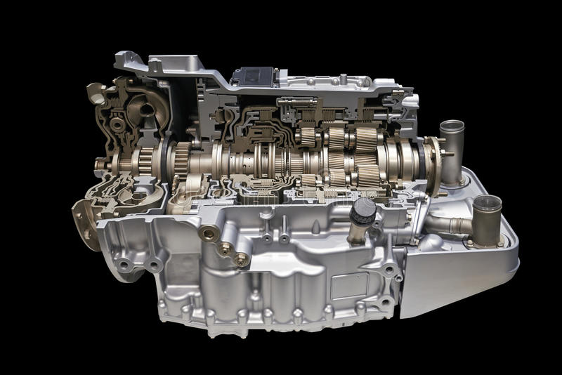 Modern car engine royalty free stock images