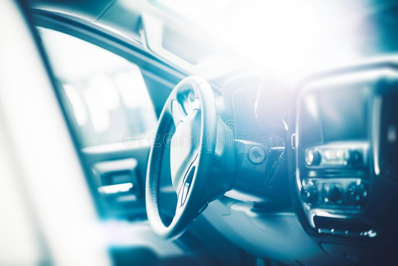 Modern Car Interior. In a Bright Light. Transportation Theme stock images