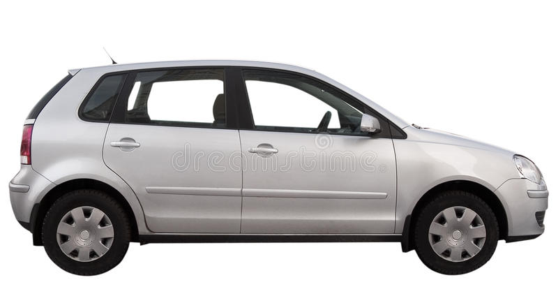 Modern car is isolated stock image