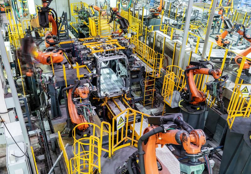Download Car Production Line Of The Robot Stock Photo - Image of line, automotive: 99926290