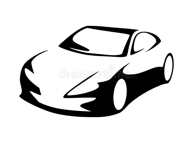 modern car silhouette stock vector illustration of driver 58295088 rh dreamstime com race car silhouette vector f1 car silhouette vector
